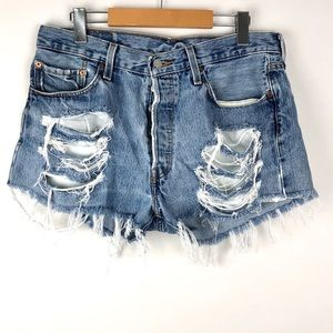 Levi's 501 Vintage Light Jean High Rise Shorts